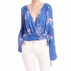 Free People That's a Wrap Floral Top - NWT